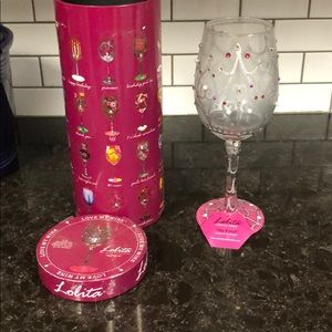 "Lolita ""My Tiara"" wine glass"